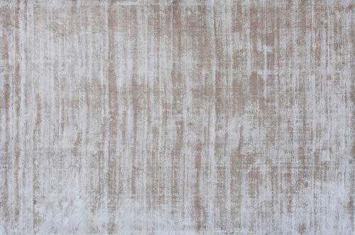 UNIVERS-DECOR Tapis en Viscose tissé à la Main Used 200 x 300 cm (Ivoire, Tapis Viscose tissé à la Main 200 x 300 cm)