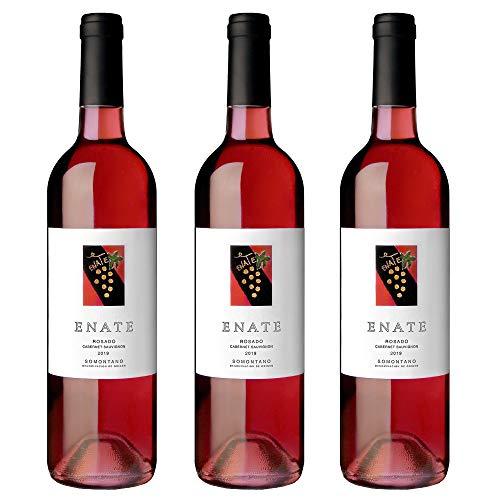 Bodega Enate Cabernet Sauvignon - Añada 2019, Vino Rosado - D.O. Somontano, Pack de 3 Botellas x 75 cl