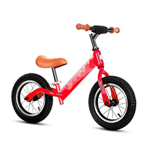 LIFON Bicicleta Ligera para niños pequeños sin Pedales Bicicleta para Caminar para niños de 1 a 7 años con Manillar/Asiento Ajustable,Rojo