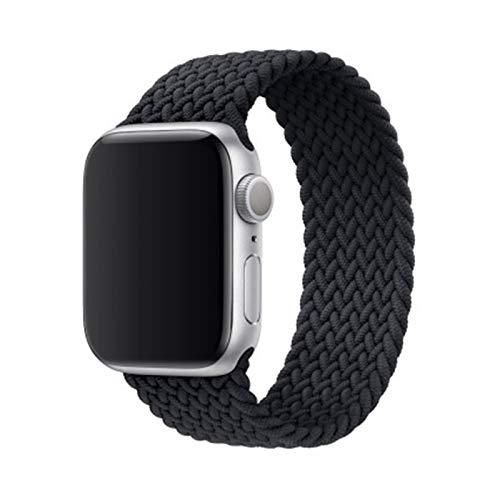 MPWPQ Banda de Reloj de Bucle Solitario Trenzado más Reciente de Charcoal para Apple Watch 1 2 34 5 6 IWATCH 38mm 42mm 40mm 44mm Reloj de Reloj de Nylon Correa de la Correa de la Correa
