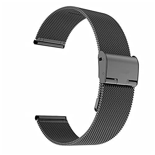 LLMXFC Correa de reloj de 22 mm 20 mm para Samsung Galaxy Watch Active 2 Band para Samsung Gear S3 Correa para Samsung Galaxy Watch 42 mm 46 mm (color de la correa: negro, ancho de la correa: 22 mm)