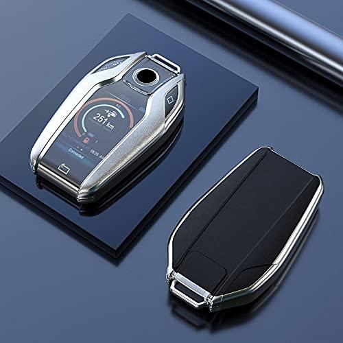 LYAKK Funda de Llave de TPU Suave para BMW Serie 57 G11 G12 G30 G31 G32 i8 I12 I15 G01 X3 G02 X4 G05 X5 G07 X7-Negro