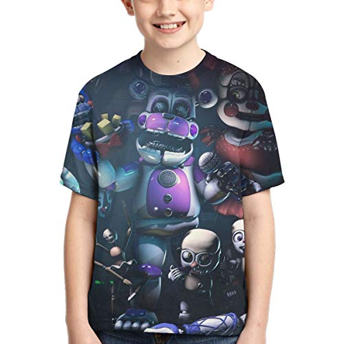 Big Boy's Five Nights at Freddy's Game 3D Printed T Shirts color2-M