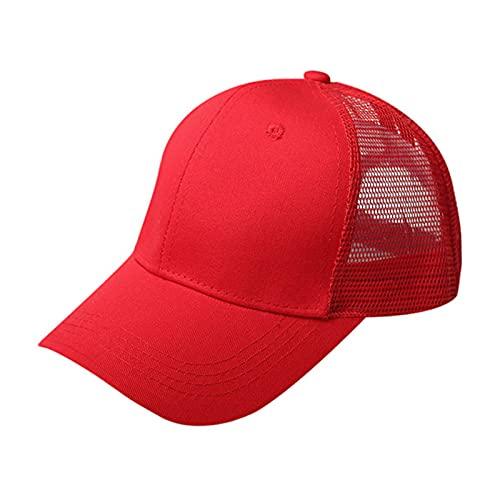 UKKD Gorra De Béisbol Cola De Caballo Gorra De Béisbol Mujer Snapback Verano Malla Sombrero Femenino Moda Hip Hop Hats Casual Al Aire Libre