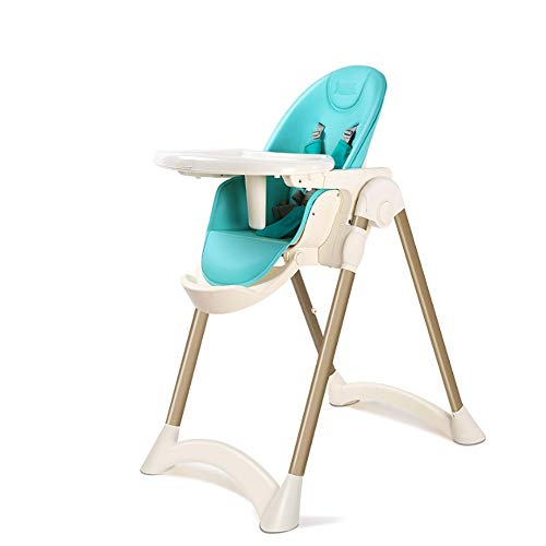 Best Deals! KOIUJ Highchair with Safety Belt, Highchair Tray Aluminum Alloy, Adjustable Rotation (Sk...