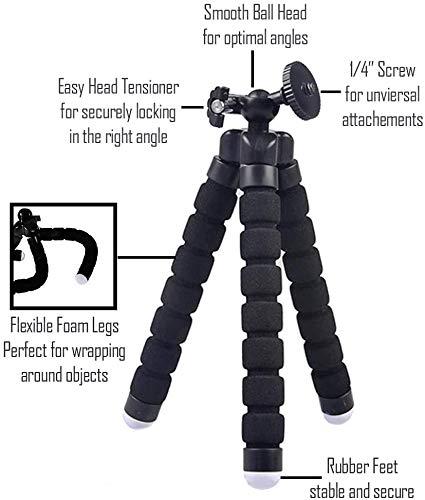 "WERPOWER GearFend 6.5"" Flexible Universal Tripod, Gopro Tripod Mount for All Gopro, Sjcam & Xiaoyi Cameras Plus Microfiber Cloth"