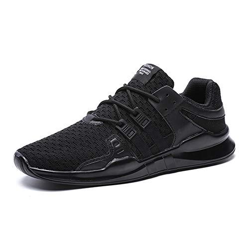 SITAILE Laufschuhe Herren Damen Sportschuhe Straßenlaufschuhe Sneaker Joggingschuhe Turnschuhe Walkingschuhe Traillauf Fitness Schuhe,44 EU,Schwarz