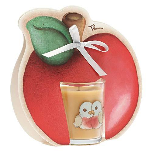 candele profumate thun THUN ® - Candela con Mela - Linea Frutti Rossi - Cannella - 65 g Cera e Oli Essenziali - Bicchierino ø 5