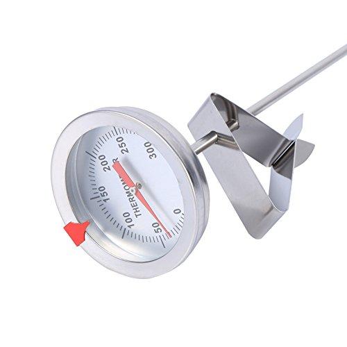 Ampio cucinando Termometro, Olio in Contenitore Insieme a Inossidabile Acciaio cucinando Nave Termometro Regolabile per Cibo La Carne Homebrew Vino Bollitore