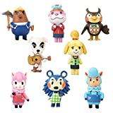 Animals Crossing Cake Topper Children Mini Figurines Toy 8 Piece Action Figure Set