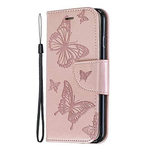 Miagon per Samsung Galaxy S20 Fe Flip Cover,retrò Farfalla Disegno Pu Pelle Libro Chiusura Magnetica Funzione Stand Portafoglio Custodia con Slot per Schede