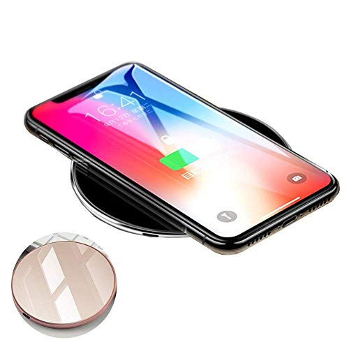 Fast Wireless Charger 10W Qi geen straling oplader draadloos inductief laadstation snellaadstation met intelligent scherm voor iPhone X/8/8 Plus/Samsung Galaxy S8/S8+/S9/S9/S6/S6+/S7