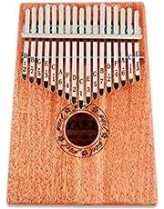 Wooden 17 key Kalimba with Mahogany Portable Thumb Piano Mbira Marimba Sanza of Attached Ore Metal Tines With bag Gift idea