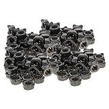 MroMax - Dadi a saldare M6 quadrati UNC in acciaio al carbonio per macchine a vite, confez...