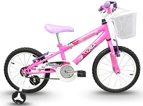 Bicicleta Infantil Aro 16 Track Girl Rosa Flúor, Track Bikes