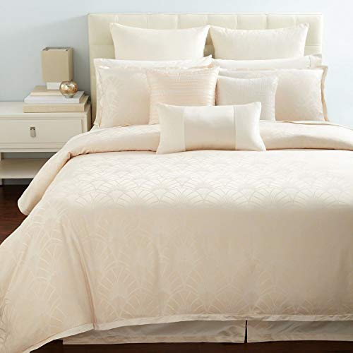 Review Hudson Park Gatsby Solid King Bedskirt in Blush