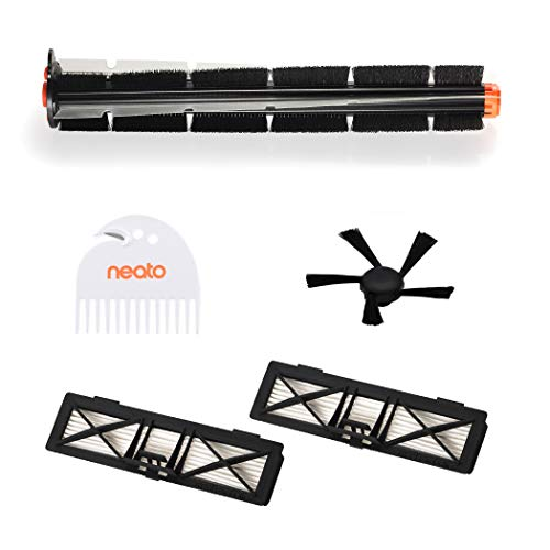 Neato Robotics 945-0339, Pet Kit (1 Spiral Combo Side Brush, 1 Combing Tool, 2 Ultra Performance Filters), Nero
