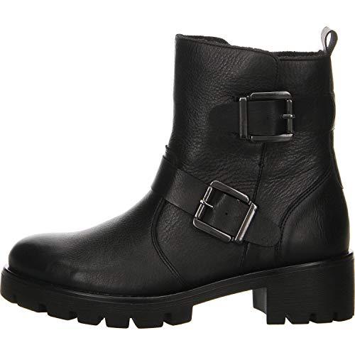 Remonte Damen Stiefeletten R5379, Frauen Biker Boots, Stiefel halbstiefel bikerbootie gefüttert Winterstiefelette,schwarz/schwarz / 01,41 EU / 7.5 UK