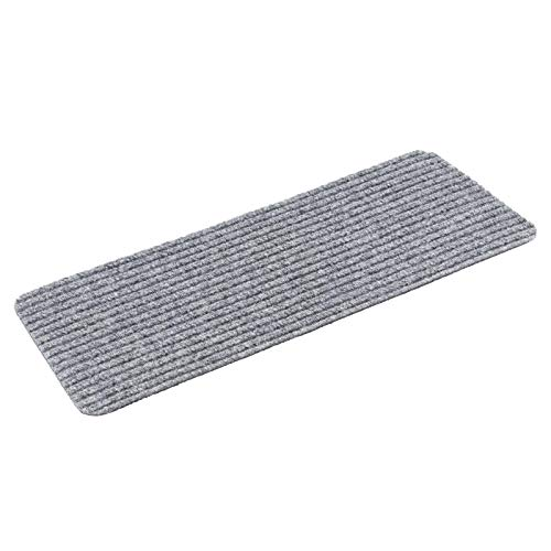 Kettelservice-Metzker Stufenmatte Treppenteppich Tulus Rechteckig - Aufleger Grau selbstklebend 60x25cm