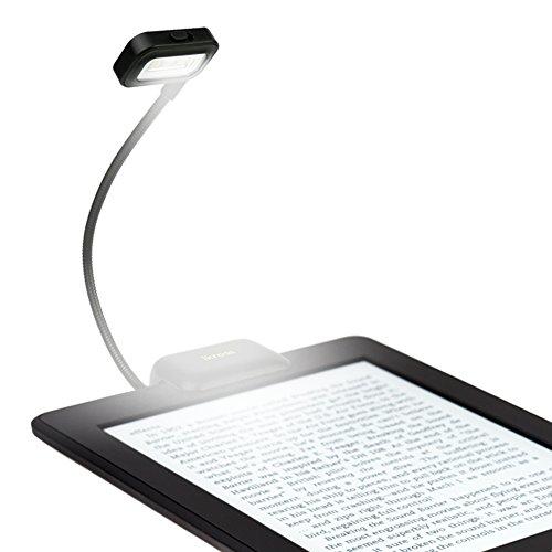 iKross LED Luz, LED Luz Clip, LED Lámpara, Luces de Lectura, Portátil de Cuello Flexible para tabletas, Libros electrónicos, Libros, Ordenadores Portátiles y Más (Negro)