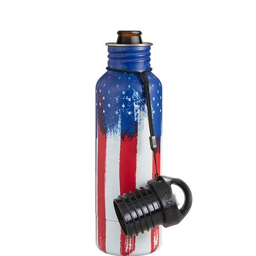 BottleKeeper - The Standard 2.0 - The Original Stainless Steel Bottle Holder and Insulator to Keep Your Beer Colder (American Graffiti)