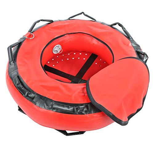 Keenso Marcador del Salto, señal Resistente de la flotabilidad de la Seguridad del Marcador de la boya del Salto de la boya del Freediving 1000D(Rojo)
