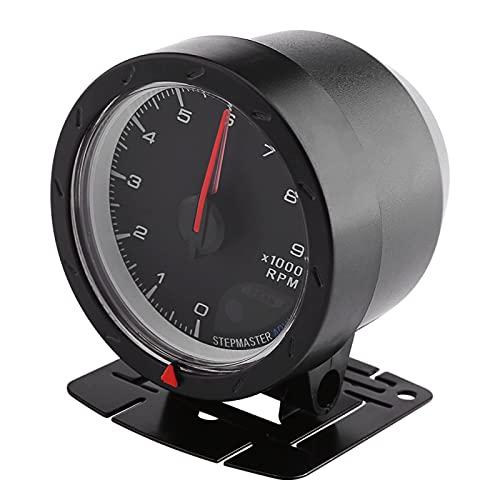 Tacómetro, 8 X 7 X 6 cm DC 12V Tacómetro para automóvil con luz de fondo para automóvil de carreras para accesorios de automóvil