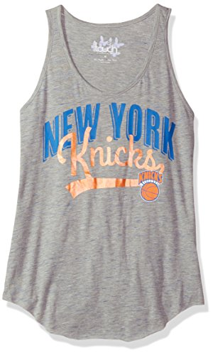 Touch by Alyssa Milano NBA New York Knicks Rookie Tank, Large, Heather Grey