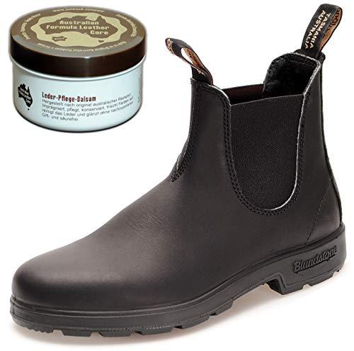 Blundstone Style 510 Classic Comfort Chelsea Boots Unisex Stiefelette + 250 ml Lederpflege | Black | UK 5.5 / EU 38.5