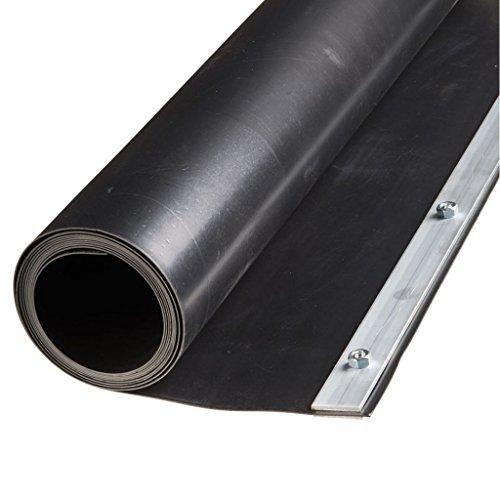 Nature Feuille de barrière de racine rhizome 0,7 x 3 m HDPE Noire 6030226