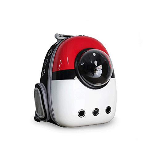 Mochila bolsa pet gato cachorro cães astronauta upgrade Vermelho