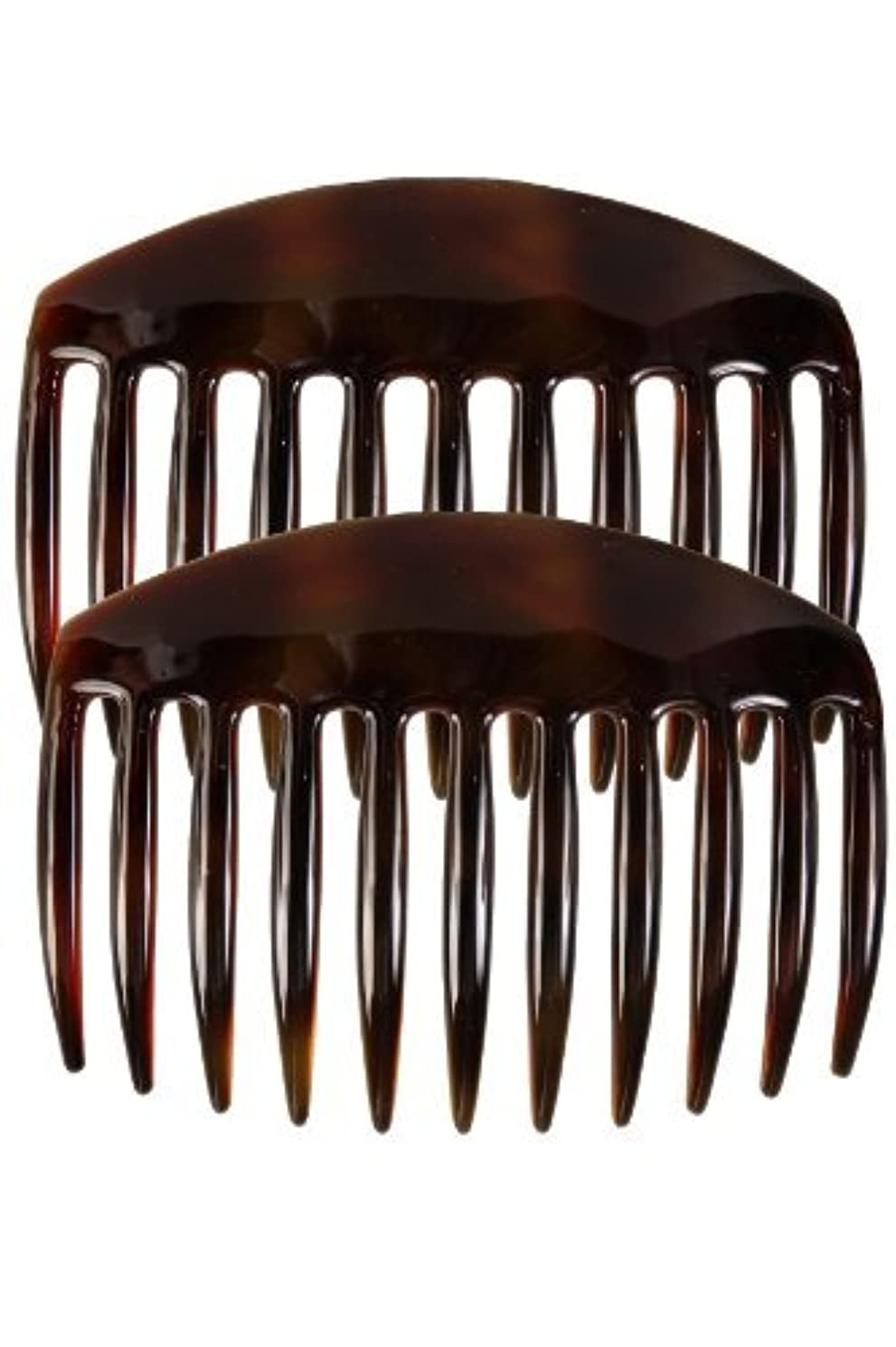 宣言する甘い口実Caravan French Tooth Back Comb Tortoise Shell Pair, Large.65 Ounce [並行輸入品]