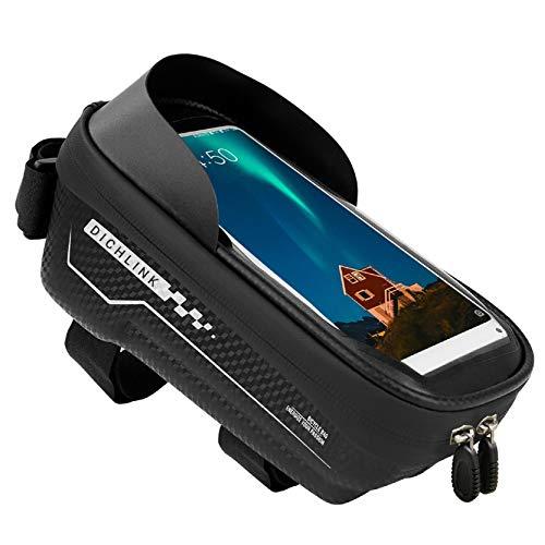 YIVUNI Borsa Bici Telaio Porta Cellulare da Bici Impermeabile Accessori Bici Borse di Stoccaggio di Grande capacità Touch Screen per sotto 6.5 Pollice Telefono