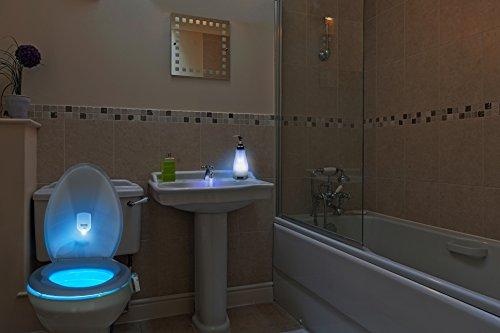IllumiBowl Toilet Motion Activated Night Light (As Seen On Shark Tank) Multi-Color, Universal Fit