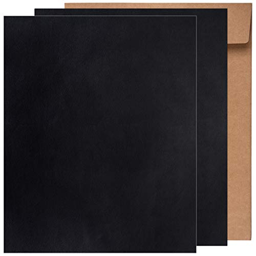 Kit de Parche de Piel,Parches de Piel Cuero Artificial, para Sofá Asientos de Coche Pegatina de Reparación de Polipiel Parches,25 cm x 30 cm (Negro 2pcs)
