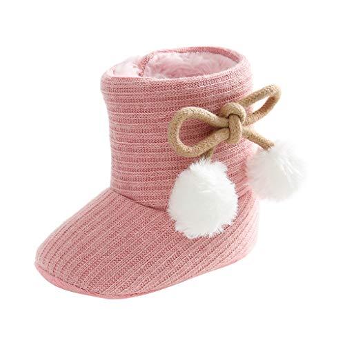 LIJUCH Newborn Infant Baby Toddler Boots Premium Soft Anti-Slip Sole Warm Winter Boots for Infant Baby Girls