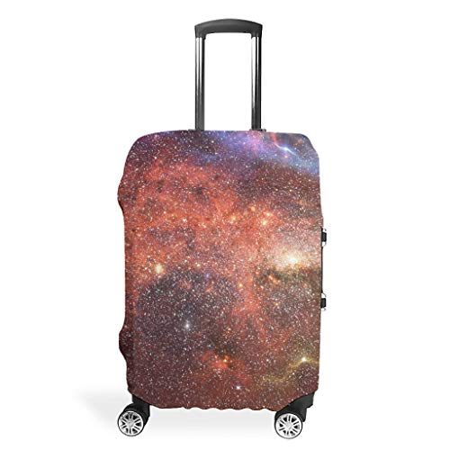 Galaxy Travel Luggage Cover Protector – Mist Personalised Suitcase Protective Case 4 Sizes Fit Protective Suitcase, White (White) - Bannihorse-scc