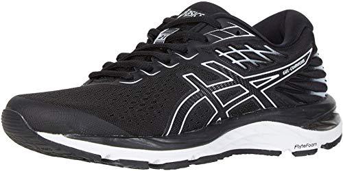 ASICS Women's Gel-Cumulus 21 Running Shoes, 6M, Black/White