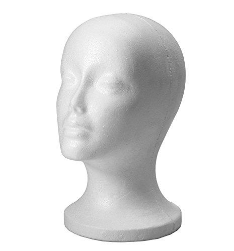 Romote Mujer de Pelo Espuma de Poliestireno Espuma Maniquí Modelo de la Cabeza de Peluca Vidrios del Sombrero de Visualización