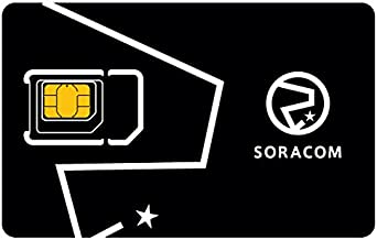 Soracom Air Global IoT SIM Card Secure Cellular Connectivity SIM Card for IoT M2M Projects Pay as You Go No Contract (3-Pack)
