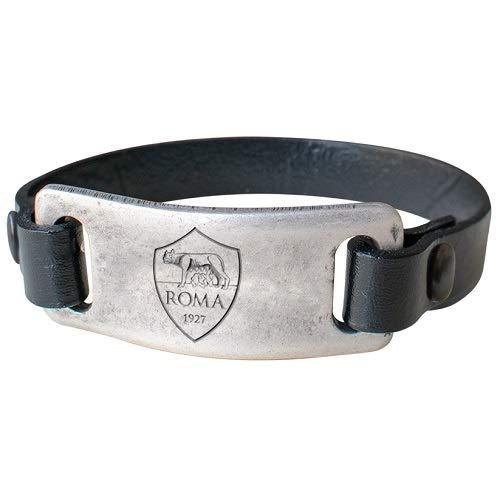 Pulsera de cuero con placa vintage A.S. Roma, producto oficial
