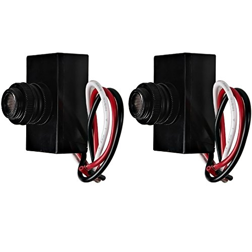 Hykolity Outdoor Post Eye Light Photo Control, Thermal Type Photo Control, Dusk-to-Dawn Light Sensor Switch - 2 Pack