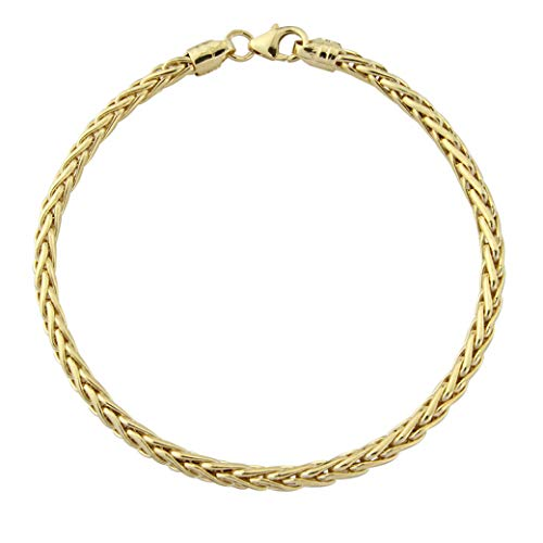 Mark Milton Gifts for Her, 18 cm Yellow Gold Palmier Bracelet for Women, 375 Yellow Gold, Best Gift for Events