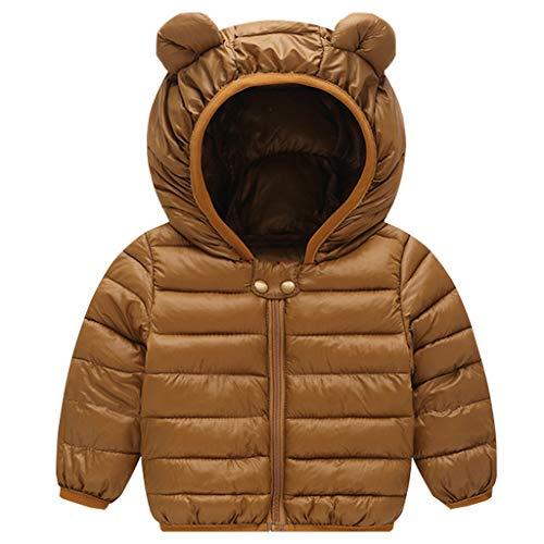 Baby Jacke Winter Mantel Kapuzenjacke Ultraleicht Mäntel mit Kapuze 6-12 Monate