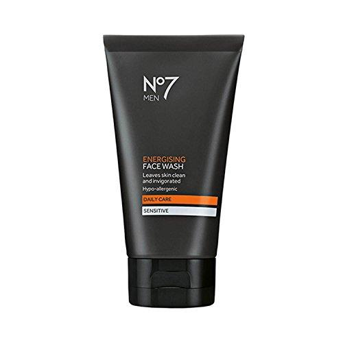 No 7 Men Energising Face Wash Hypo-Allergenic Daily Care Sensitive Skin 5 ounces.