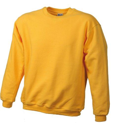 James & Nicholson Herren Round-Sweat-Heavy ÜG Sweatshirt, Gelb (gold-yellow), XXXXX-Large