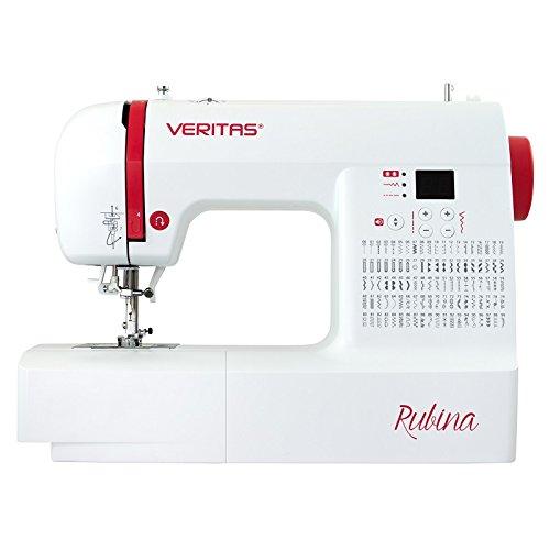 Veritas Rubina Computer Nähmaschine, Weiß/Rot