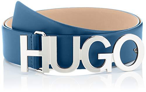 HUGO Damen Gürtel Zula Belt 4 Cm-Zl, Blau (Dark Blue 403), 100