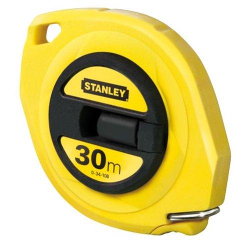 Stanley Kapselbandmass Standard Stahl (30 m Länge, 9,5 mm Massbreite, ABS-Kunststoff, Genauigkeitsklasse II) 0-34-108