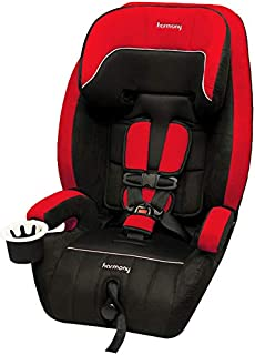 Harmony Defender 360 3-in-1 Deluxe Car Seat, Black/Red